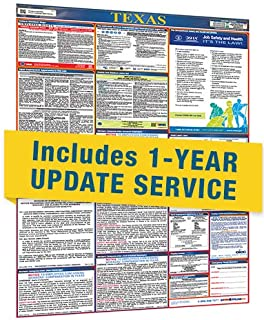 2019 Texas All in One Labor Law Posters with 1 Yr E Update Service
