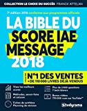 Bible du Score IAE Message 2018