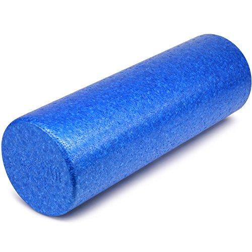 Yes4All EPP Exercise Foam Roller – Extra Firm High Density Foam Roller – Best for Flexibility and Rehab Exercises (18 inch, Blue)