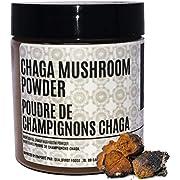 Dinavedic Ground Chaga Mushroom Powder - 35 g (1.24 oz) | Anti-Inflammatory, Immune Support & Energy Booster, Wild Harvested, All Natural Supplement