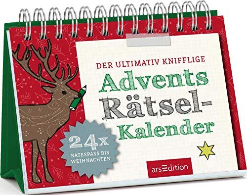 Der ultimativ knifflige Advents-Rätsel-Kalender: 24 x Ratespaß bis Weihnachten | Kniffliger Ratespaß zum Thema Advent und Weihnachten im Aufstellerformat (Adventskalender)