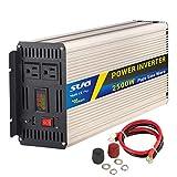 Sug 2500W(Peak 5000W) Power Inverter Pure Sine Wave DC 12V to AC 110V 120V Converter Back up Power Supply for RV, Home, Car Use