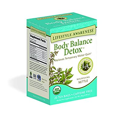 Lifestyle Awareness Body Balance Detox Tea with Nourishing Nettle, Caffeine Free, 20 Tea Bags, Pack of 6 from Lifestyle Awareness Teas