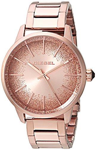Diesel Damen Analog Quarz Uhr mit Edelstahl Armband DZ5567