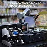 Banknotenzähler für Gemischte Geldscheine mit Wertzählung MUNBYN UV MG IR UV MW 3D SN 2 CIS Geldzählmaschine Banknotenzählmaschine für Euro-Banknoten - 9