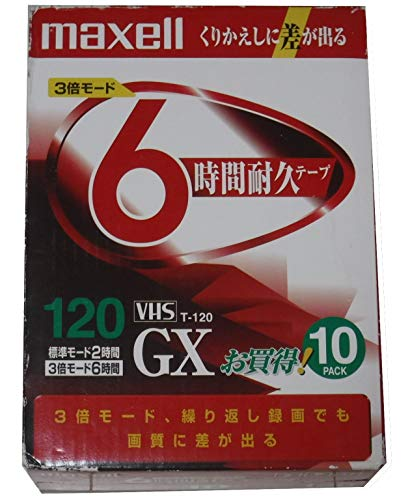 VHSビデオテープ GX T-120GXT.10P