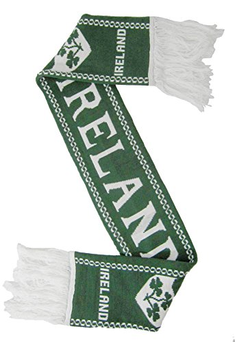 Irish Rugby Scarf - Ireland Scarf for Rugby and Soccer fans, Green