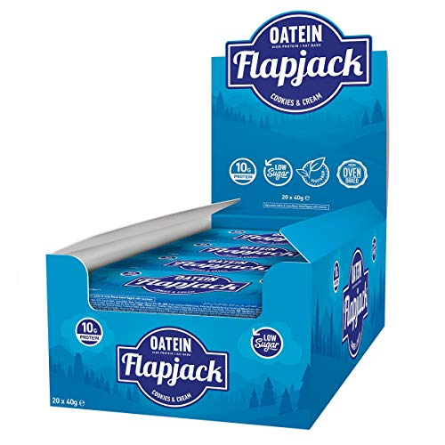 Oatein Protein Flapjack (Pack of 40 x 40g) - Variety Box of High Protein, Low Sugar, Vegetarian flapjack, Packed with Oats