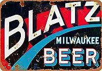 ブラッツビール 金属板ブリキ看板警告サイン注意サイン表示パネル情報サイン金属安全サイン