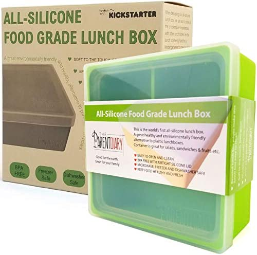 Eco Lunch box for Kids and Adults All Silicone Lunch Containers with Dividers Kids lunch container product image