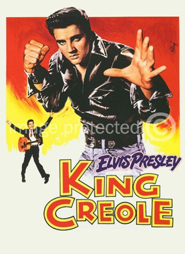 American Gift Services King Creole 1958 Elvis Presley Vintage Movie Poster Art 11x17