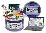 Jemsideas Kit de survie Survival Kit In A Can et carte de souhait pour nouvel...