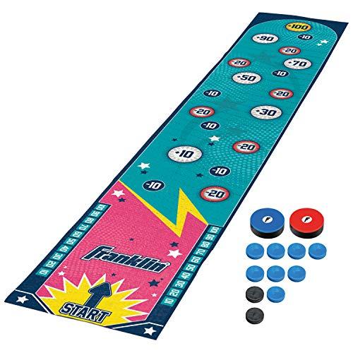 Franklin Sports Shuffleboard Table Game Mats – Tabletop Shuffleboard Mats and Pushers – Indoor Shuffleboard and Curling Games - Arcade Shuffleboard