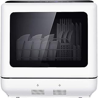PIGE Lavavajillas de sobremesa desinfectante y Secado automático para el hogar automático, lavavajillas Integrado, Temporizador de 29 Minutos, 900 W, Alta Temperatura