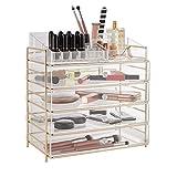 Beautify — Rangement pour Produits cosmétiques et Maquillage — Grande boîte en Acrylique avec 4 tiroirs, 12 Compartiments à...