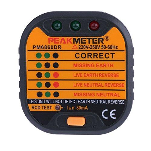 Steckdosen Tester Automatischer Steckdose Prüfgerät für Leiter, Neutralleiter und Erde Tester - typ2