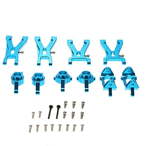 KINGDUO Wltoys A959-B A979-B A969 A979 K929 Upgrade Metallteile Paket Suspension Arm Stahlring Radnabe-Blau
