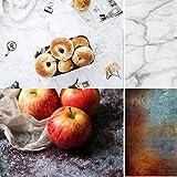 KonPon Fondo de mármol de doble cara de 83 x 55 cm, diseño de...