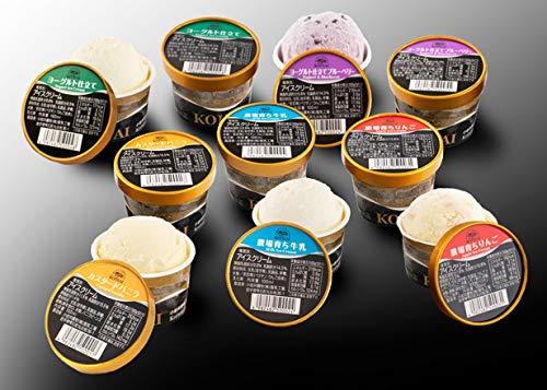 小岩井農場特製アイスクリーム10個セット [バニラ&牛乳&りんご&ヨーグルト&ヨーグルト仕立てブルーベリー]