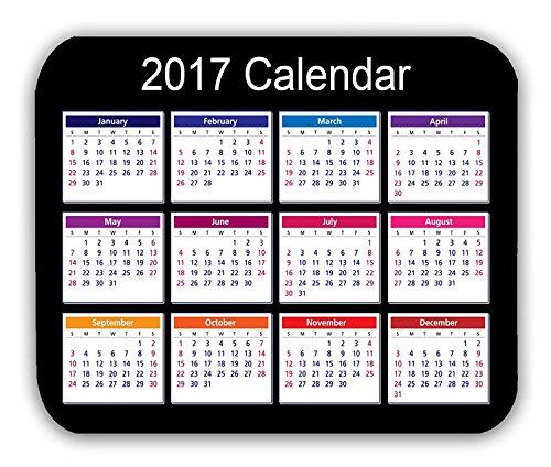 2017 Calendar Anti-Slip Pad Mat Mice Mousepad Desktop Mouse pad Laptop Mouse pad Gaming Mouse pad