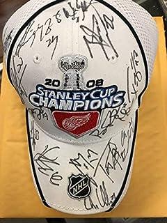0106c333dc5 Detroit Red Wings 2008 Stanley Cup Champions Autographed Signed Hat JSA  Authentication