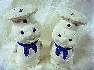 Vintage Retro Very Rare Pillsbury Doughboy Ceramic Salt and Pepper Shakers Set