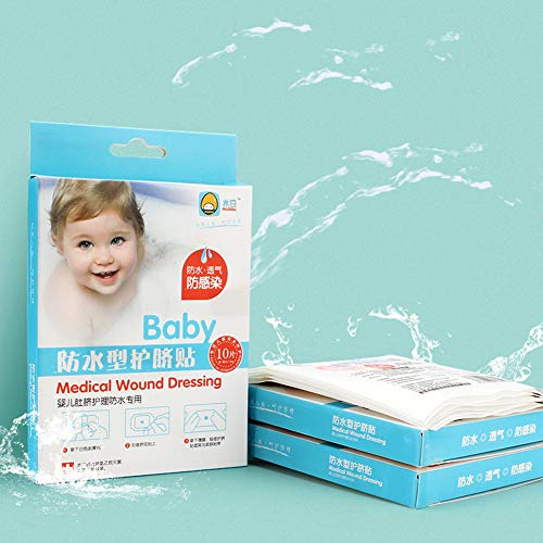Rabusion 10PCS Baby Umbilical Stickers Cord Umbilical Waterproof Disposable Baby Umbilical Paste