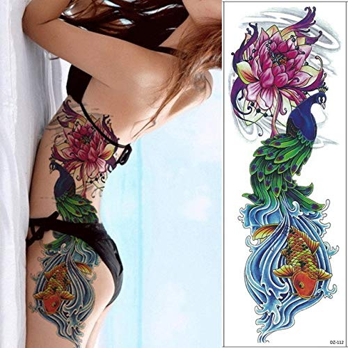 tzxdbh 3 Unids-Tatuaje Temporal Manga del Brazo del Tatuaje Femenino Tatuaje de los Hombres Geisha Tatuaje de Transferencia Impermeable y Pegatinas de Arte Corporal 3 Unids-