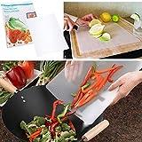 Thin Clear Flexible Plastic Cutting Board Chopping Mat 12' x 15' (16 Pack)