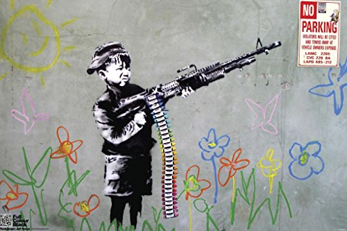 Pyramid America Crayon Shooter Banksy Cool Wall Decor Art Print Poster 18x12