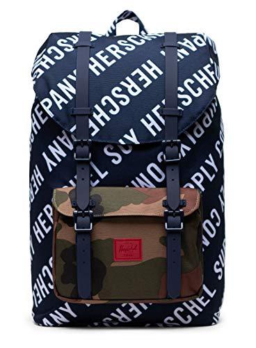 Herschel Little America Mid-Volume Backpack Roll Call Peacoat/Woodland Camo
