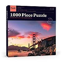 Puzzle Press | ゴールデンゲートブリッジパズル 1000ピース 大人用ジグソーパズル サンフランシスコスカイライン - 適度に挑戦