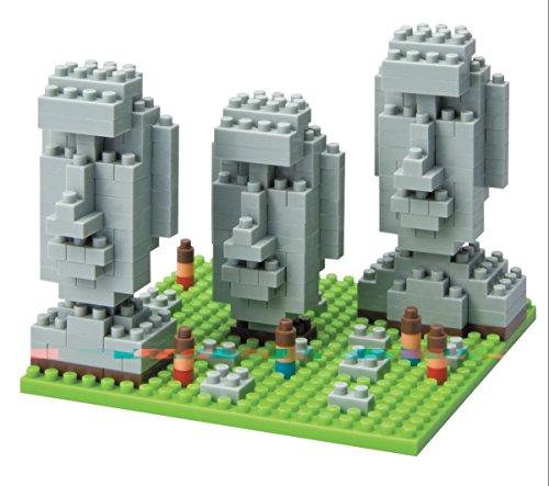 nanoblock NBH-009 - Osterinseln / Moai Status of Easter Island, Minibaustein 3D-Puzzle, Sights to See Serie, 310 Teile, Schwierigkeitsstufe 2, mittel