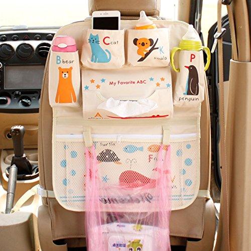 Protezione Sedile Posteriore Auto Organizer BagagliaioIl bambino rifornisce il sedile posteriore del fumetto della borsa di sedile dell automobile indietro, ABC blu