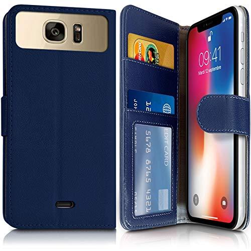 Karylax Schutzhülle für Smartphone Hisense C30 Rock Lite (Ref.4-A) Blau