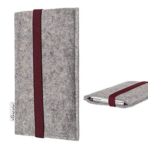 flat.design Handyhülle Coimbra kompatibel mit BlackBerry KEY2 (Dual-SIM) - Smartphone-Tasche Handmade in Germany - Handytasche aus Filz