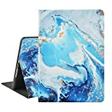 LuvCase iPad Case for iPad Mini 5/4/3/2/1 (2012-2019) + Auto Wake/Sleep Function 360° Rotation Soft Leather Smart Protective Cover with Stand (Blue Grey Marble)