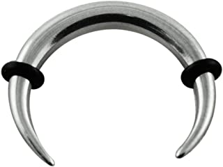Piercing per Orecchio in Acciaio Chirurgico 316L Curvo