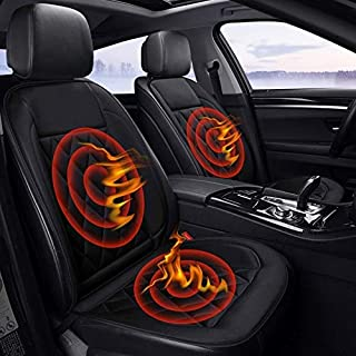 Car 12V Seat Heater Cushion Warmer Cover Winter Heated Warm, Double Seat High Quality (Color : Black)