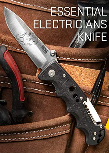 Product Image 6: SOG EL01-CP Kilowatt Electricians Pocket Knife with Wire Stripping Multi Tool, 3.4 Inch AUS-8 Blade, UTP 10-22G Wire Stripper Knife