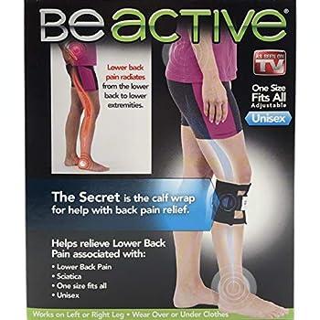 Be-ACTIVE Braces Beactive Acupressure for Sciatica Pain As Seen on TV- Set of 2 Braces Black/Blue