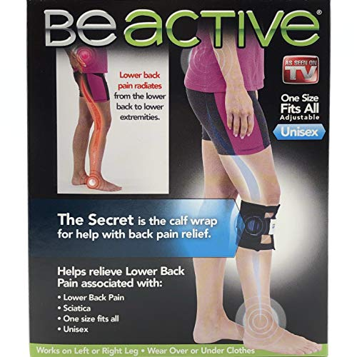 Be-ACTIVE Braces Beactive Acupressure for Sciatica Pain As Seen on TV- Set of 2 Braces, Black/Blue