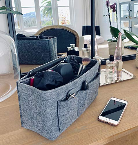 Handbag Organiser - 2in1 Bag Tote Insert with Waterproof Pocket