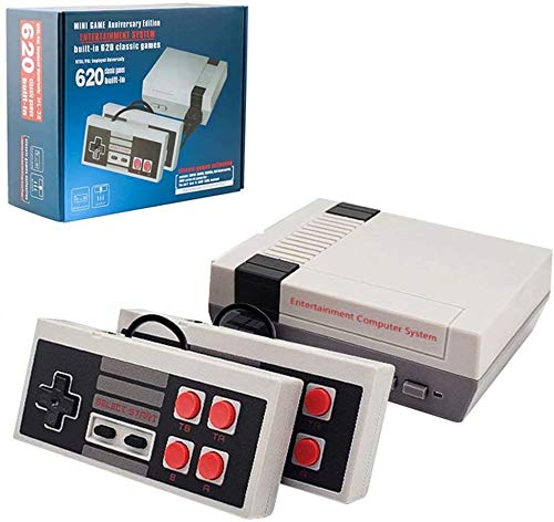 xjh 620 in 1 Classic Game Console, Retro Game Console, AV Mini TV Game Console ,AV Output NES...