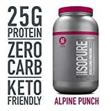 Isopure Zero Carb, Keto Friendly Protein Powder, 100% Whey Protein...