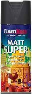 Plasti-kote 3101 400ml Super Spray Paint - Matt Black (Packaging may vary)