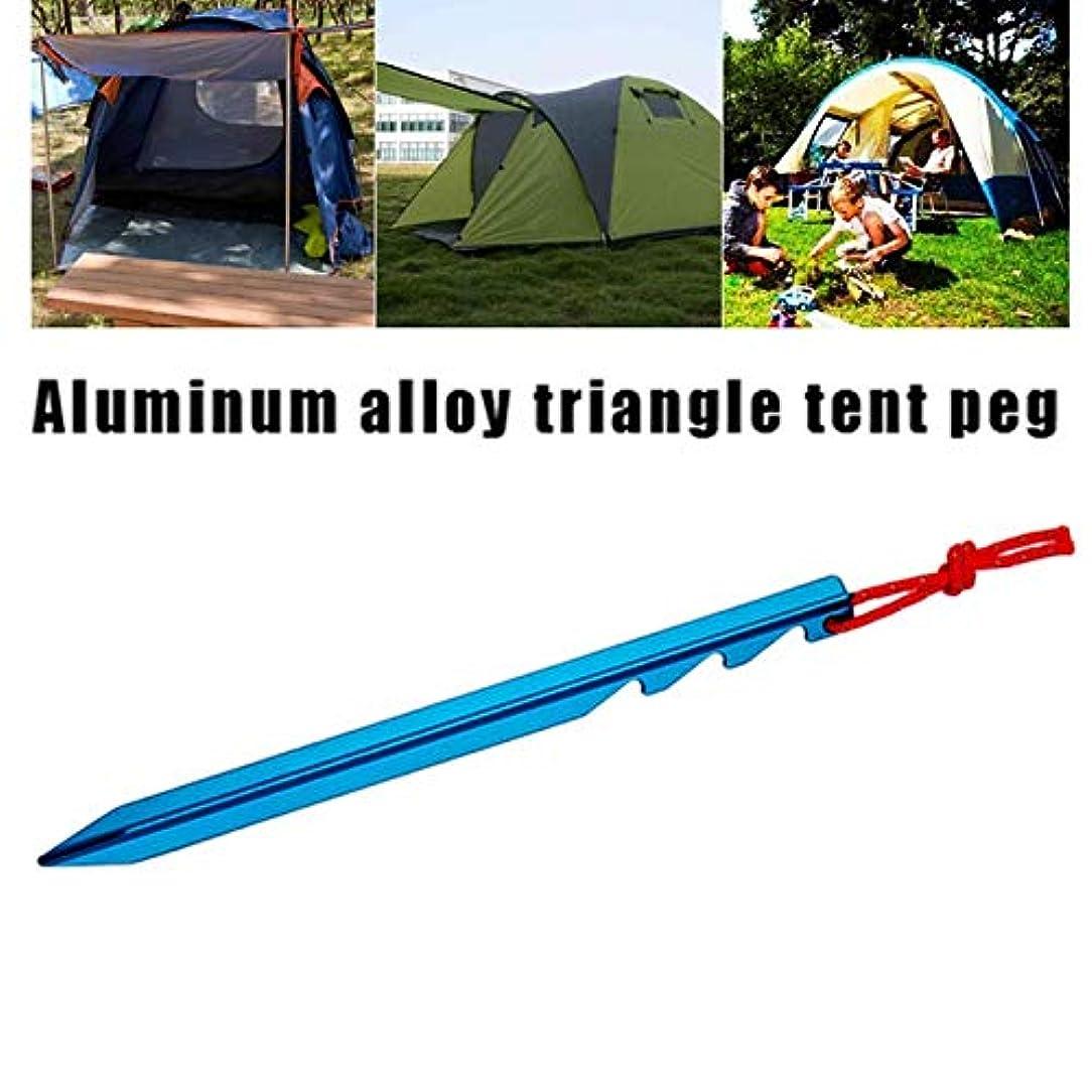 起きて送金面倒xinzhiキャンプテントパイルウッド、キャンプ固定テントパイル18センチ三角形ネイルキャンプマットネイル屋外キャンプに適した、ランダムカラー