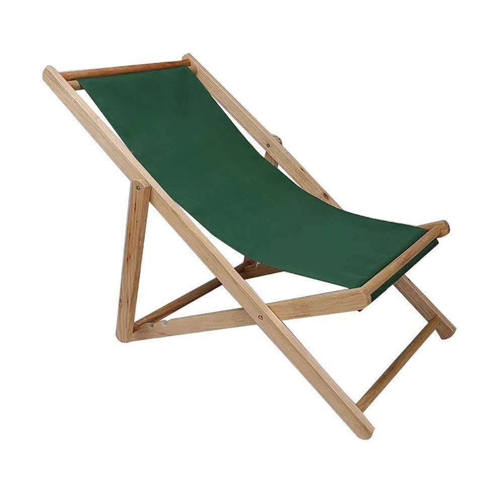 SHIJIAN Silla Plegable de Madera Tradicional for Playa/jardín Tumbona Junto al mar - Silla de Lona Plegable for Exteriores Silla de Oficina reclinable 140 kg (Color : Green): Amazon.es: Hogar