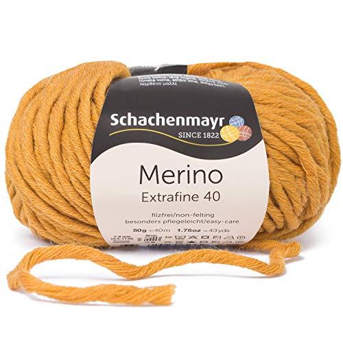 Schachenmayr Fils À Tricoter À La Main Merino Extrafine 85, 50G Gold Meliert
