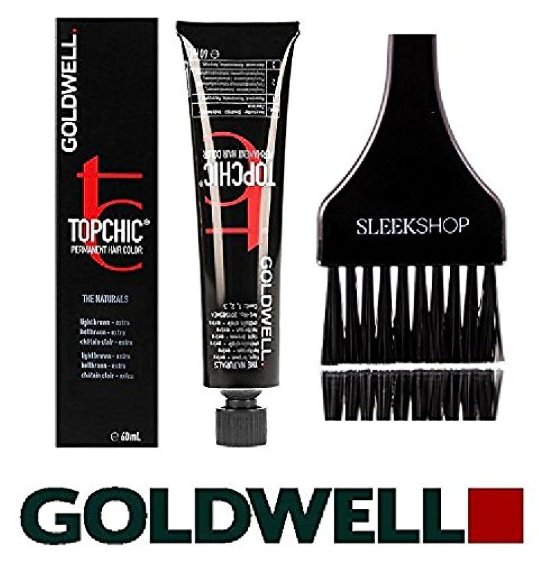 採用政令スイス人Topchic by Goldwell Goldwell Topchicパーマネントヘアカラー、(なめらかな色合いのカラーブラシで)2.1オンスチューブ 7rbライトレッドブナ
